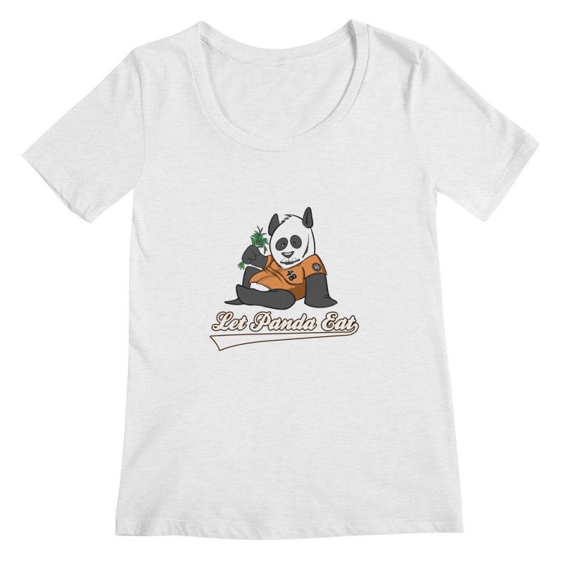 Let Panda Eat! Women's Regular Scoop Neck by Coconut Justice's Artist Shop