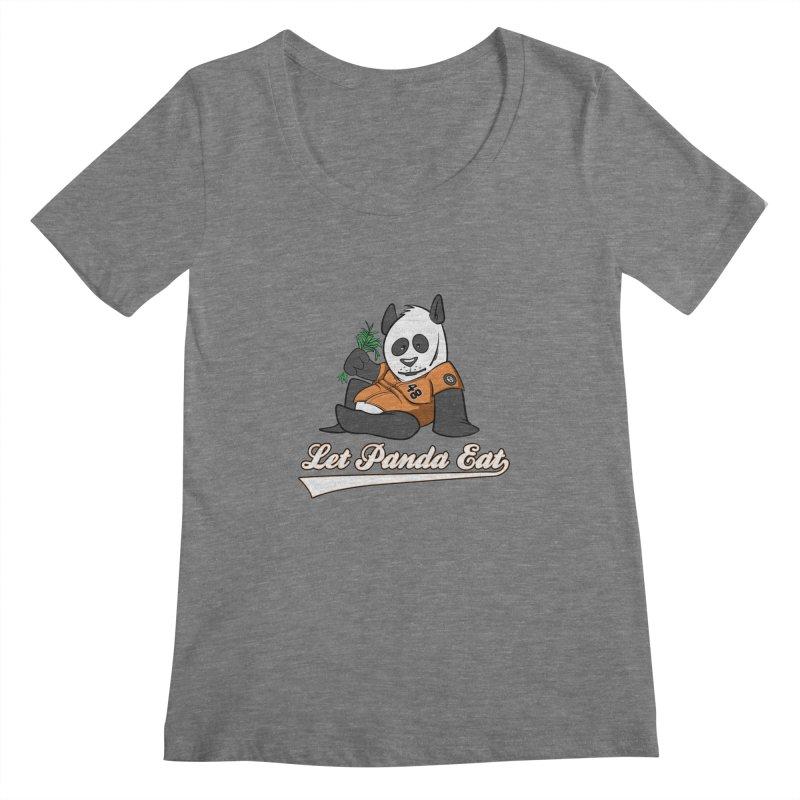 Let Panda Eat! Women's Scoopneck by Coconut Justice's Artist Shop