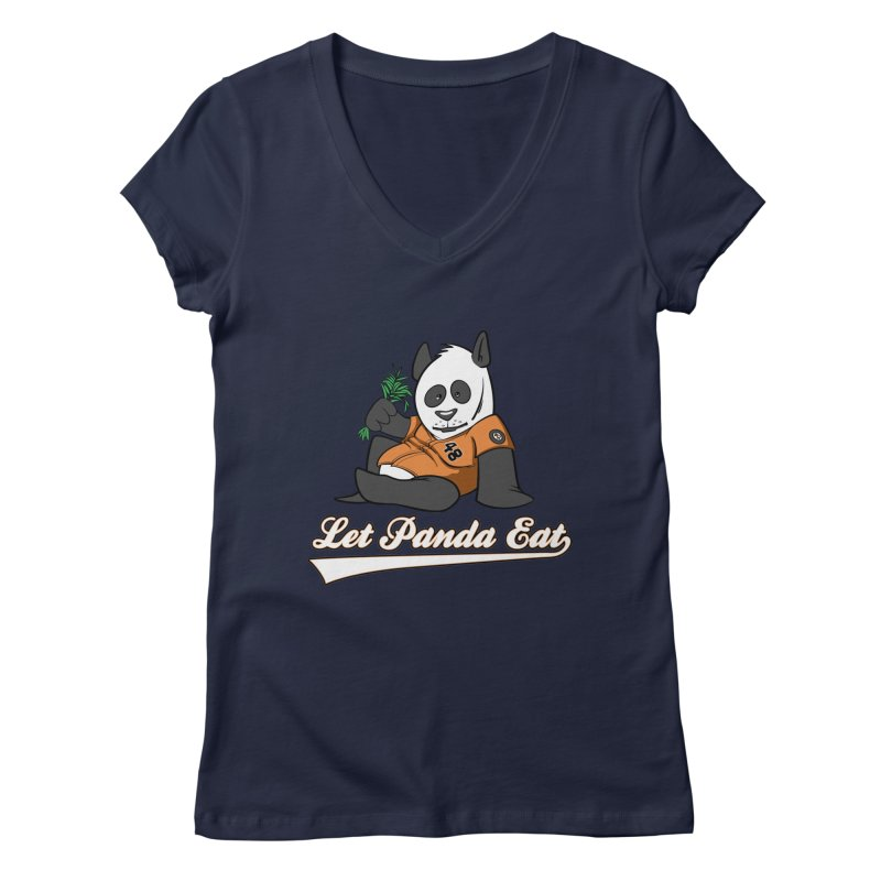 Let Panda Eat! Women's V-Neck by Coconut Justice's Artist Shop