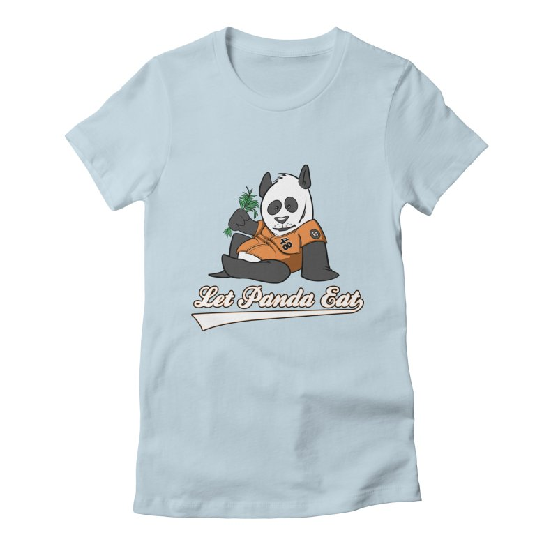 Let Panda Eat! Women's Fitted T-Shirt by Coconut Justice's Artist Shop