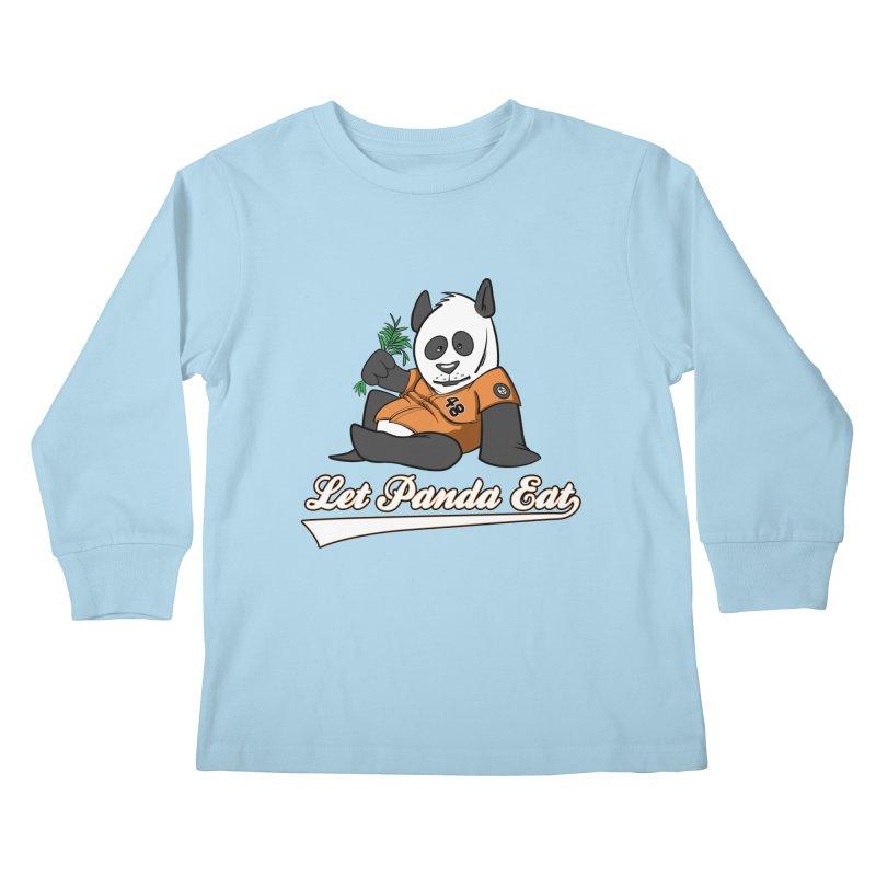 Let Panda Eat! Kids Longsleeve T-Shirt by Coconut Justice's Artist Shop