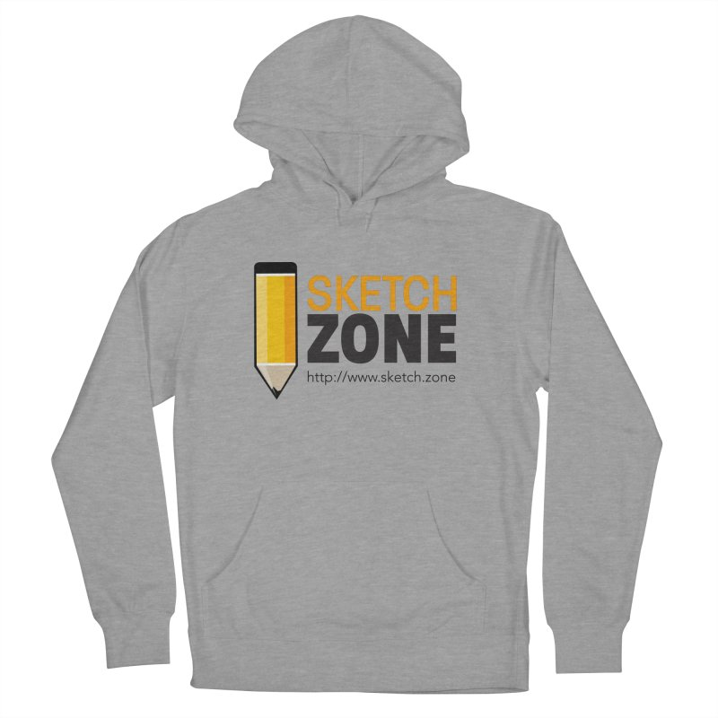 Sketch Zone Logo Large Women's French Terry Pullover Hoody by Coconut Justice's Artist Shop