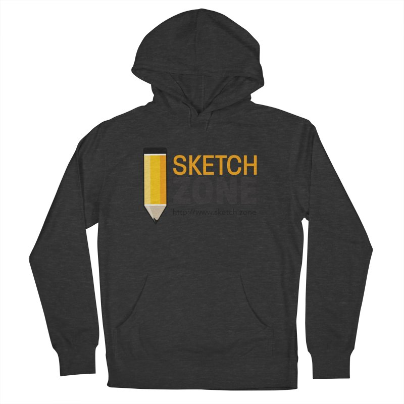 Sketch Zone Logo Large Men's French Terry Pullover Hoody by Coconut Justice's Artist Shop