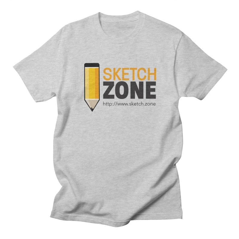 Sketch Zone Logo Large Men's Regular T-Shirt by Coconut Justice's Artist Shop