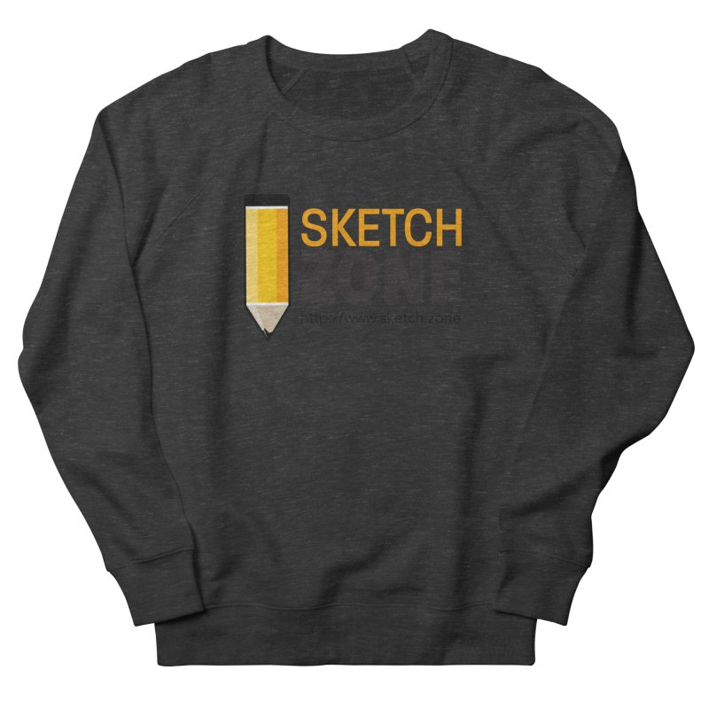 Sketch Zone Logo Large Men's French Terry Sweatshirt by Coconut Justice's Artist Shop
