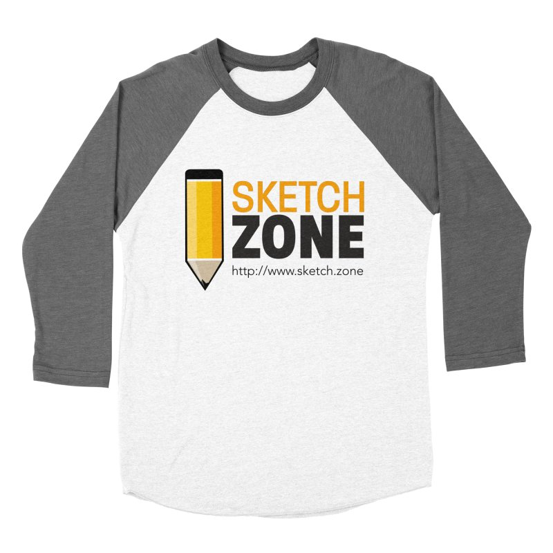 Sketch Zone Logo Large Women's Baseball Triblend Longsleeve T-Shirt by Coconut Justice's Artist Shop