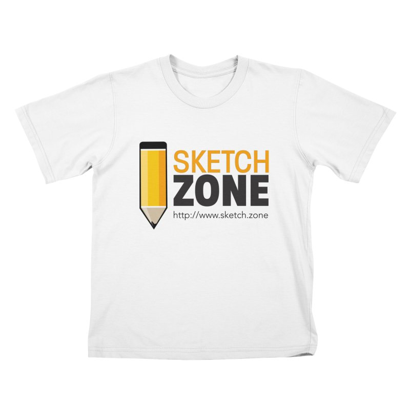Sketch Zone Logo Large Kids T-Shirt by Coconut Justice's Artist Shop