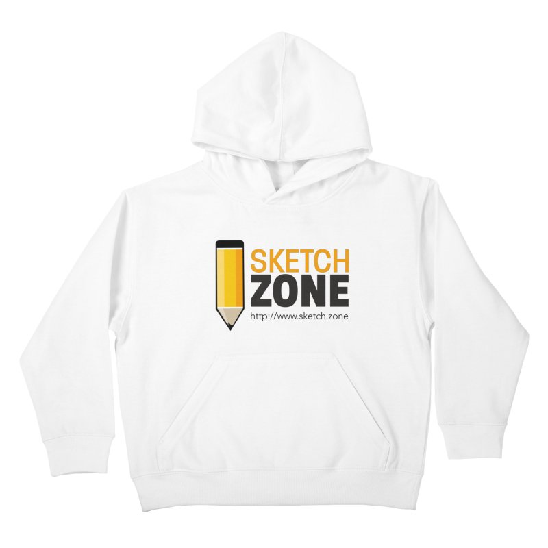 Sketch Zone Logo Large Kids Pullover Hoody by Coconut Justice's Artist Shop