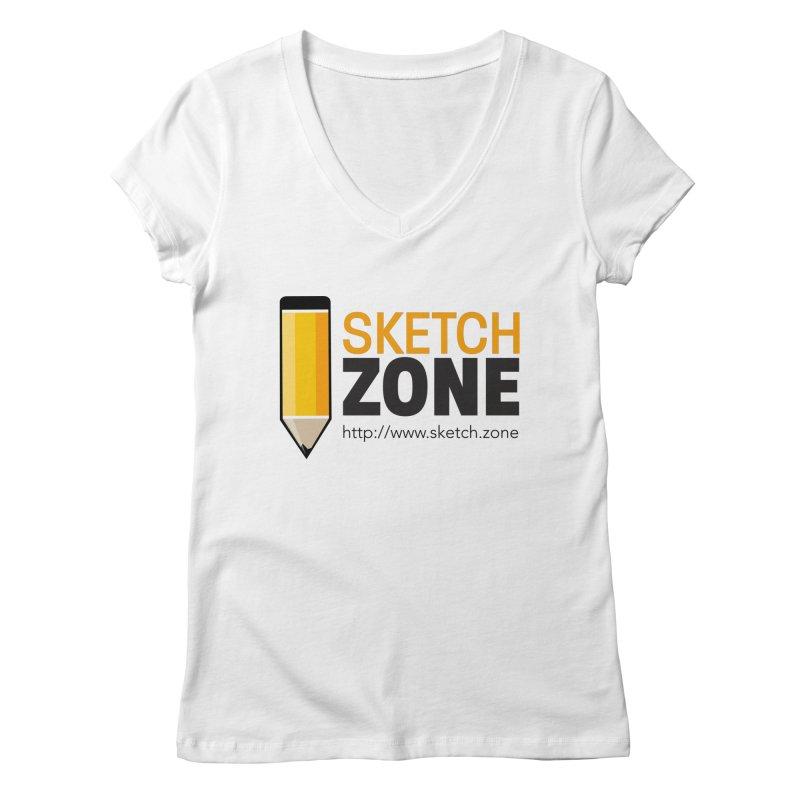 Sketch Zone Logo Large Women's V-Neck by Coconut Justice's Artist Shop