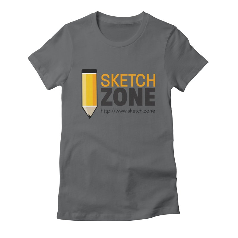 Sketch Zone Logo Large Women's Fitted T-Shirt by Coconut Justice's Artist Shop