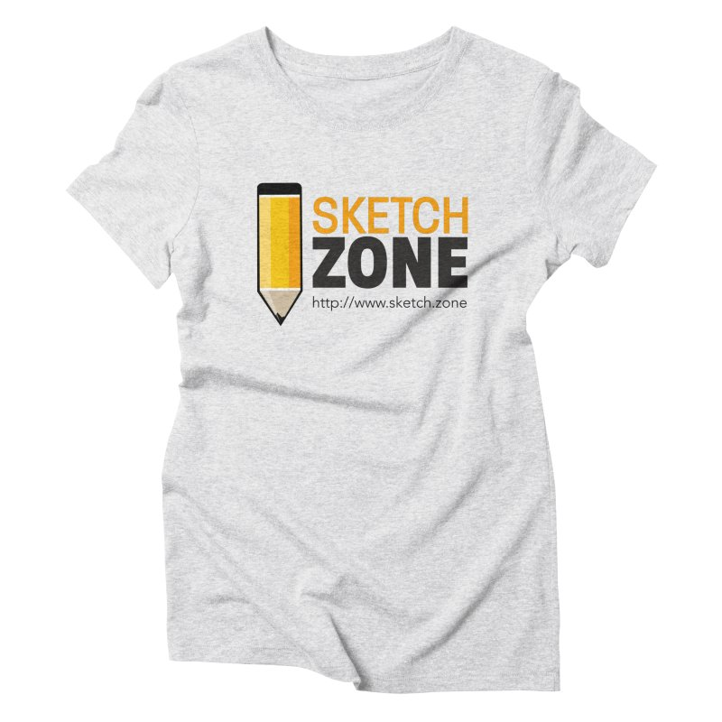 Sketch Zone Logo Large Women's Triblend T-Shirt by Coconut Justice's Artist Shop