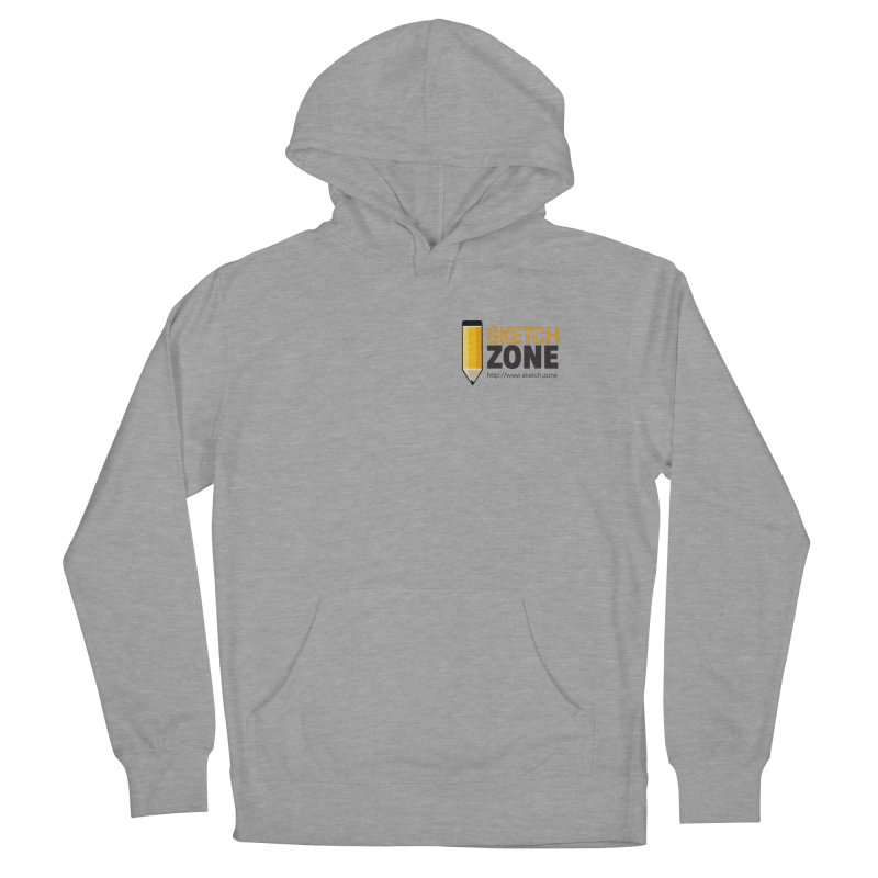 Sketch Zone Logo Small Men's French Terry Pullover Hoody by Coconut Justice's Artist Shop