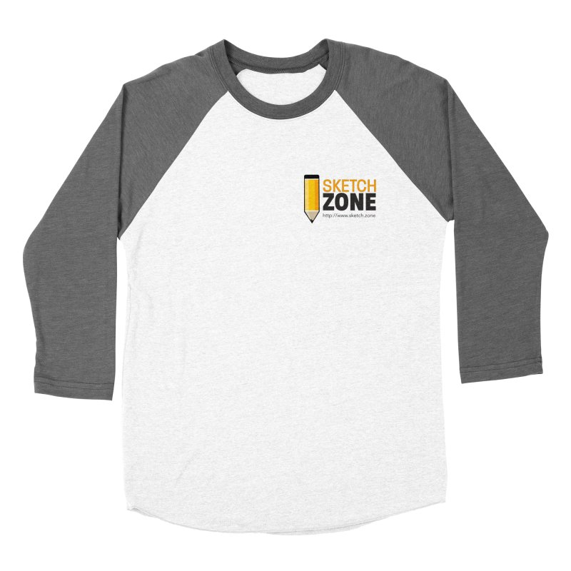 Sketch Zone Logo Small Men's Baseball Triblend T-Shirt by Coconut Justice's Artist Shop