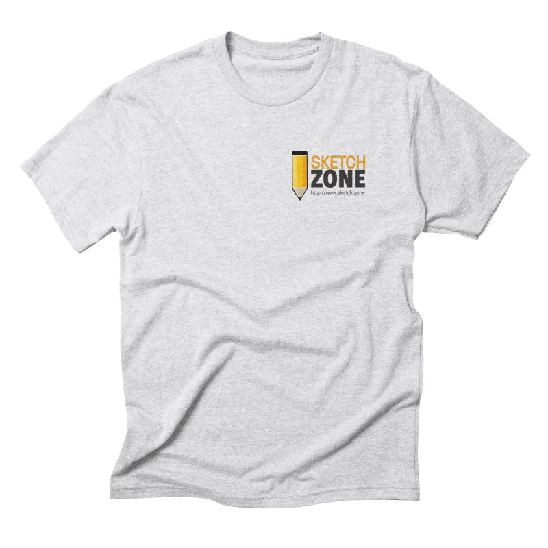 Sketch Zone Logo Small Men's Triblend T-shirt by Coconut Justice's Artist Shop