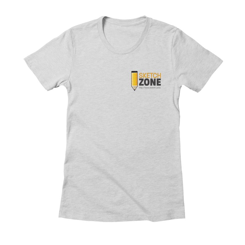 Sketch Zone Logo Small Women's Fitted T-Shirt by Coconut Justice's Artist Shop
