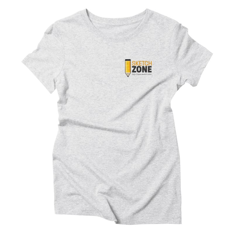 Sketch Zone Logo Small Women's Triblend T-Shirt by Coconut Justice's Artist Shop