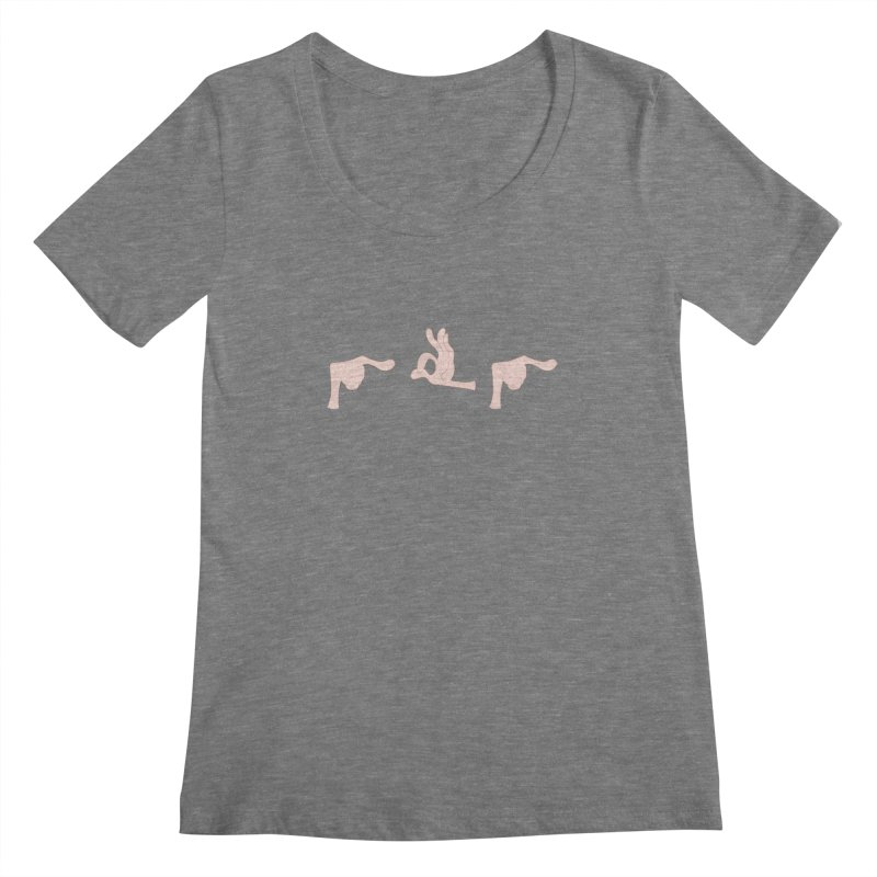 Funny Fingers - FU Women's Scoopneck by Coconut Justice's Artist Shop