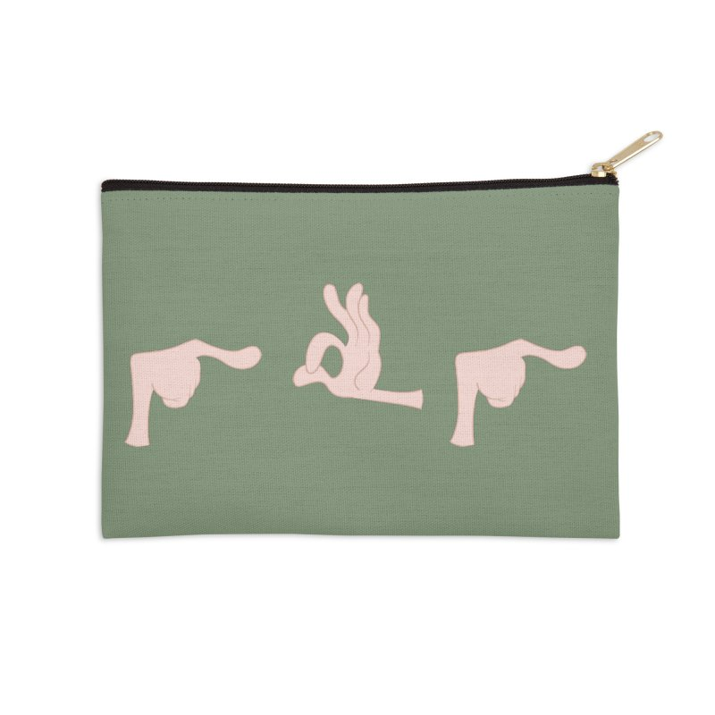 Funny Fingers - FU Accessories Zip Pouch by Coconut Justice's Artist Shop