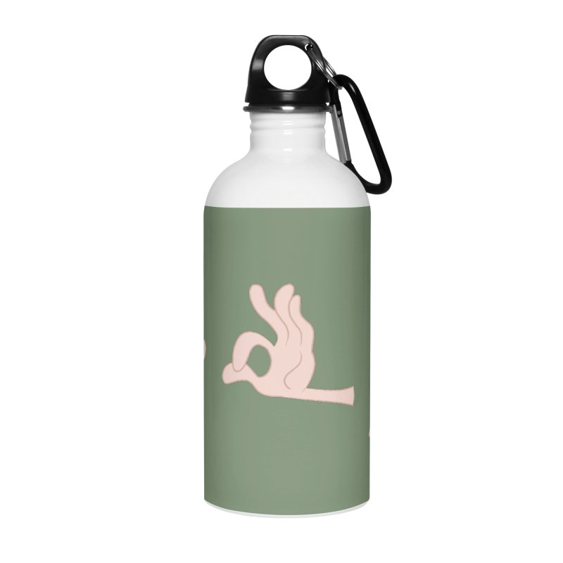 Funny Fingers - FU Accessories Water Bottle by Coconut Justice's Artist Shop