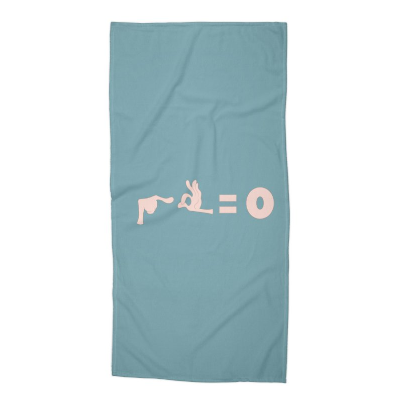 Funny Fingers - Don't Care Accessories Beach Towel by Coconut Justice's Artist Shop