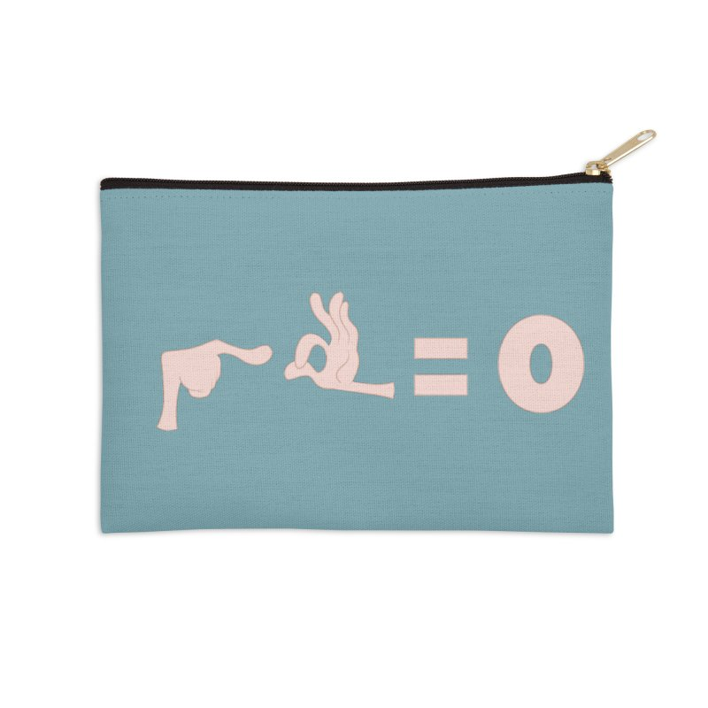 Funny Fingers - Don't Care Accessories Zip Pouch by Coconut Justice's Artist Shop