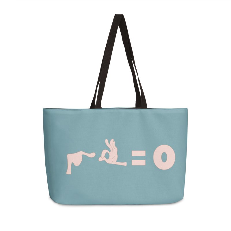 Funny Fingers - Don't Care Accessories Weekender Bag Bag by Coconut Justice's Artist Shop