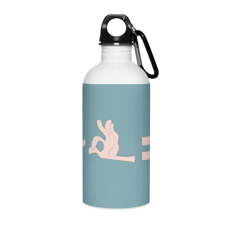 Funny Fingers - Don't Care Accessories Water Bottle by Coconut Justice's Artist Shop