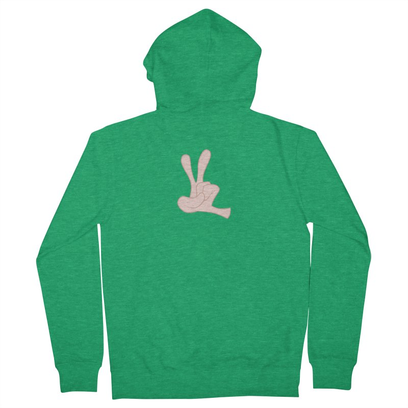 Funny Fingers - Peace Women's Zip-Up Hoody by Coconut Justice's Artist Shop
