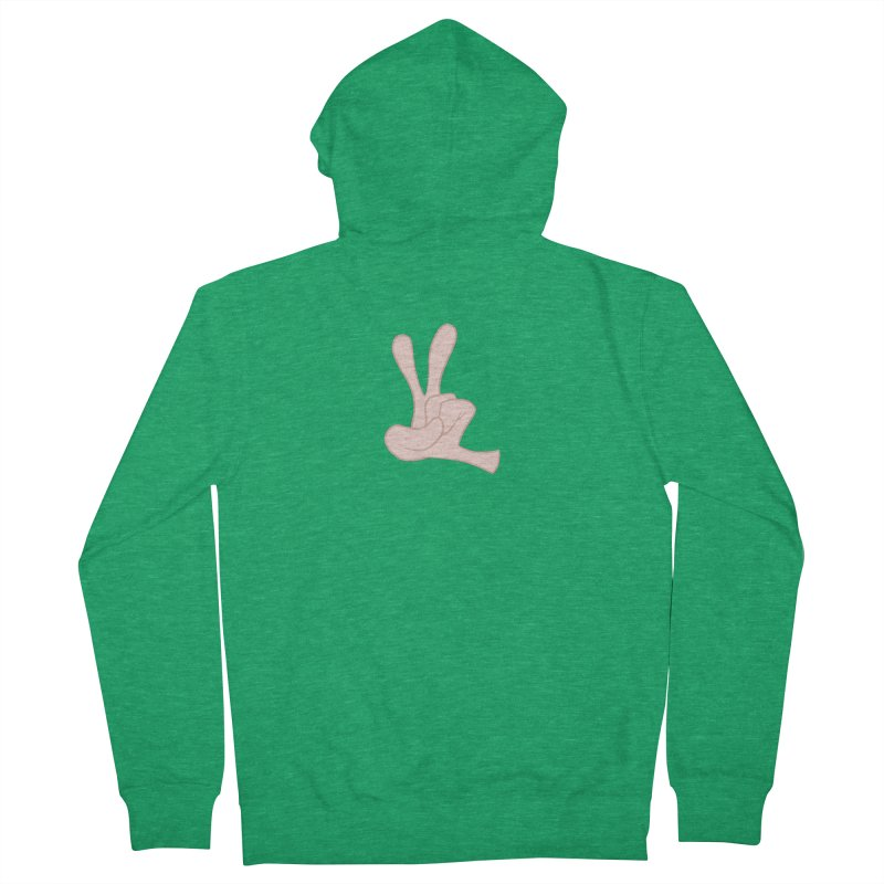 Funny Fingers - Peace Men's French Terry Zip-Up Hoody by Coconut Justice's Artist Shop