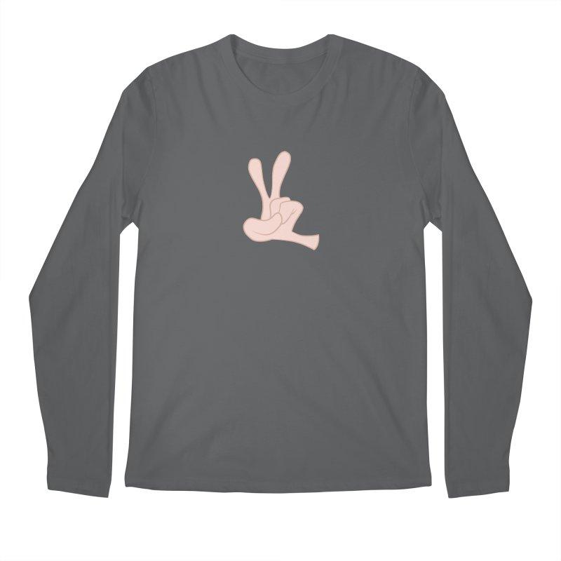 Funny Fingers - Peace Men's Regular Longsleeve T-Shirt by Coconut Justice's Artist Shop
