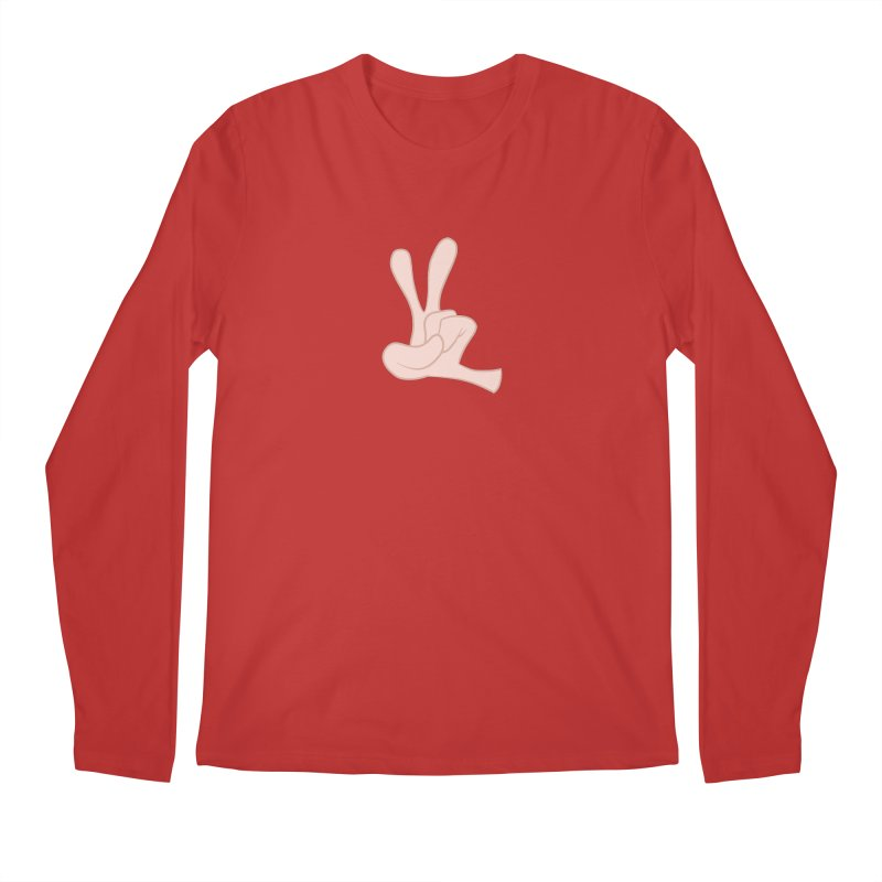 Funny Fingers - Peace Men's Regular Longsleeve T-Shirt by Coconut Justice's Artist Shop
