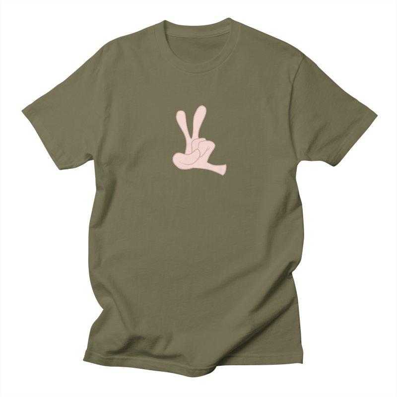Funny Fingers - Peace Women's Regular Unisex T-Shirt by Coconut Justice's Artist Shop