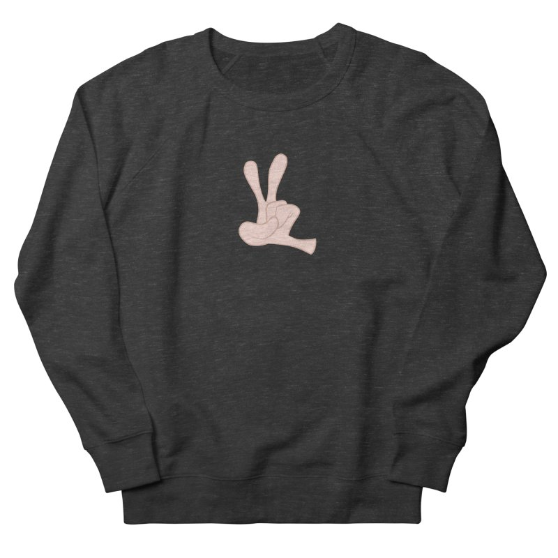 Funny Fingers - Peace Women's French Terry Sweatshirt by Coconut Justice's Artist Shop