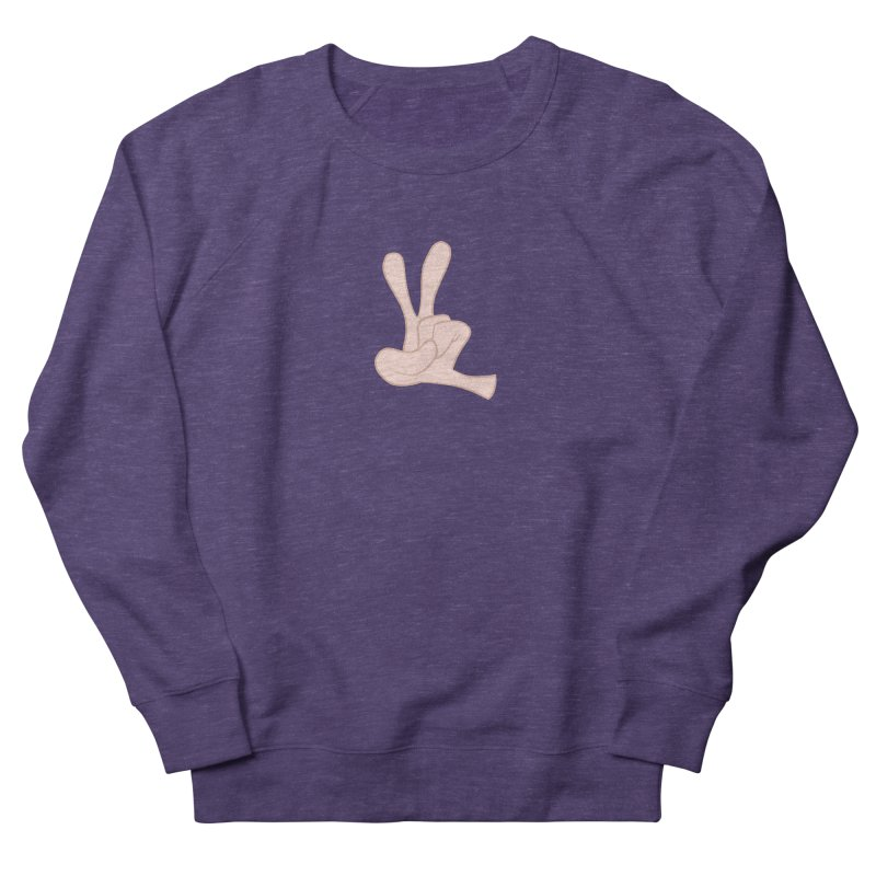 Funny Fingers - Peace Men's French Terry Sweatshirt by Coconut Justice's Artist Shop