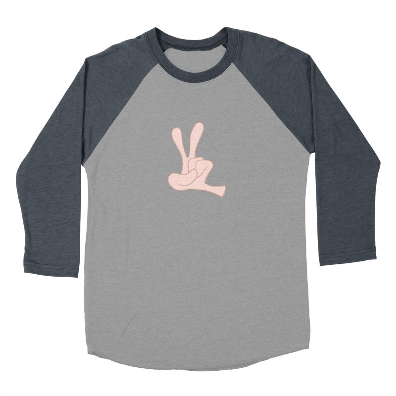 Funny Fingers - Peace Women's Baseball Triblend T-Shirt by Coconut Justice's Artist Shop