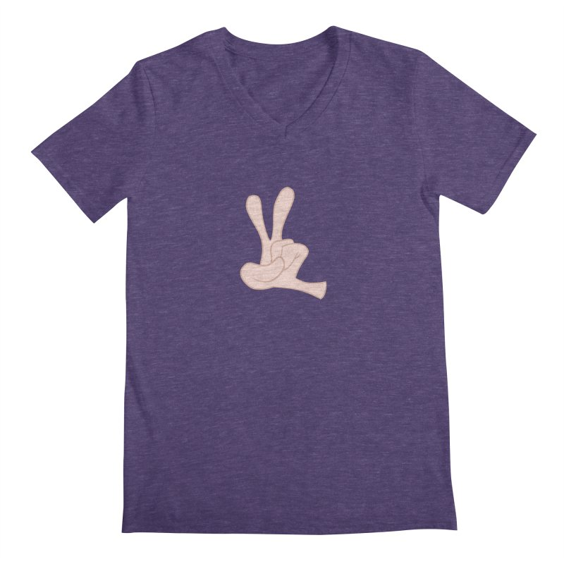 Funny Fingers - Peace Men's Regular V-Neck by Coconut Justice's Artist Shop