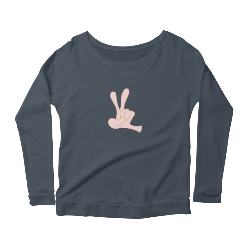 Funny Fingers - Peace Women's Scoop Neck Longsleeve T-Shirt by Coconut Justice's Artist Shop