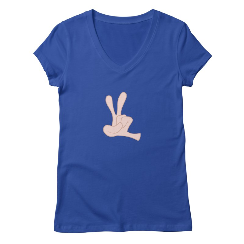 Funny Fingers - Peace Women's V-Neck by Coconut Justice's Artist Shop