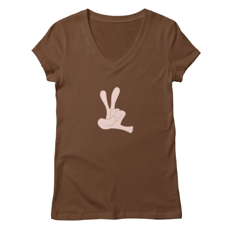 Funny Fingers - Peace Women's Regular V-Neck by Coconut Justice's Artist Shop