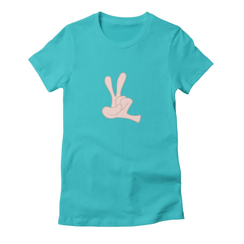 Funny Fingers - Peace Women's Fitted T-Shirt by Coconut Justice's Artist Shop