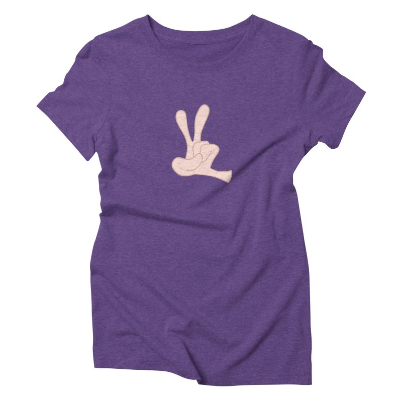 Funny Fingers - Peace Women's Triblend T-Shirt by Coconut Justice's Artist Shop