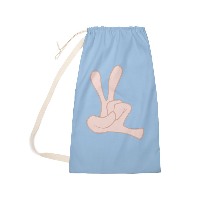 Funny Fingers - Peace Accessories Laundry Bag Bag by Coconut Justice's Artist Shop