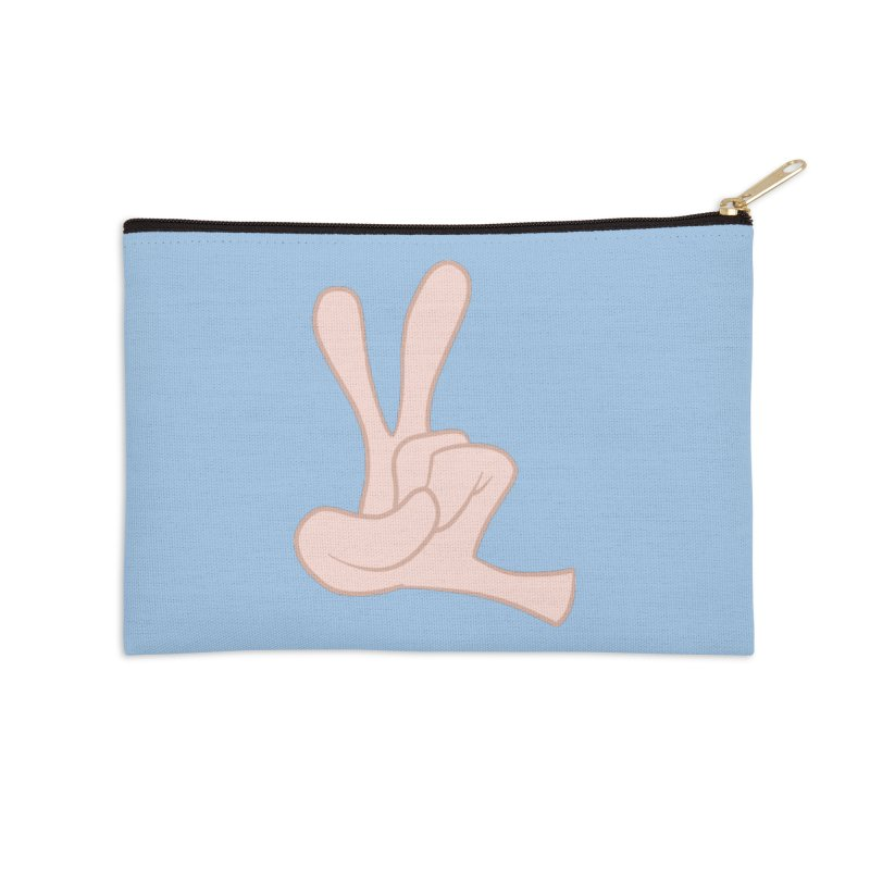 Funny Fingers - Peace Accessories Zip Pouch by Coconut Justice's Artist Shop