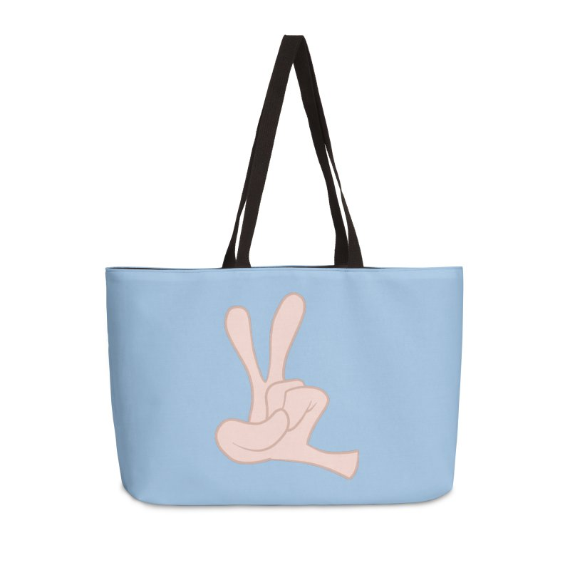 Funny Fingers - Peace Accessories Weekender Bag Bag by Coconut Justice's Artist Shop
