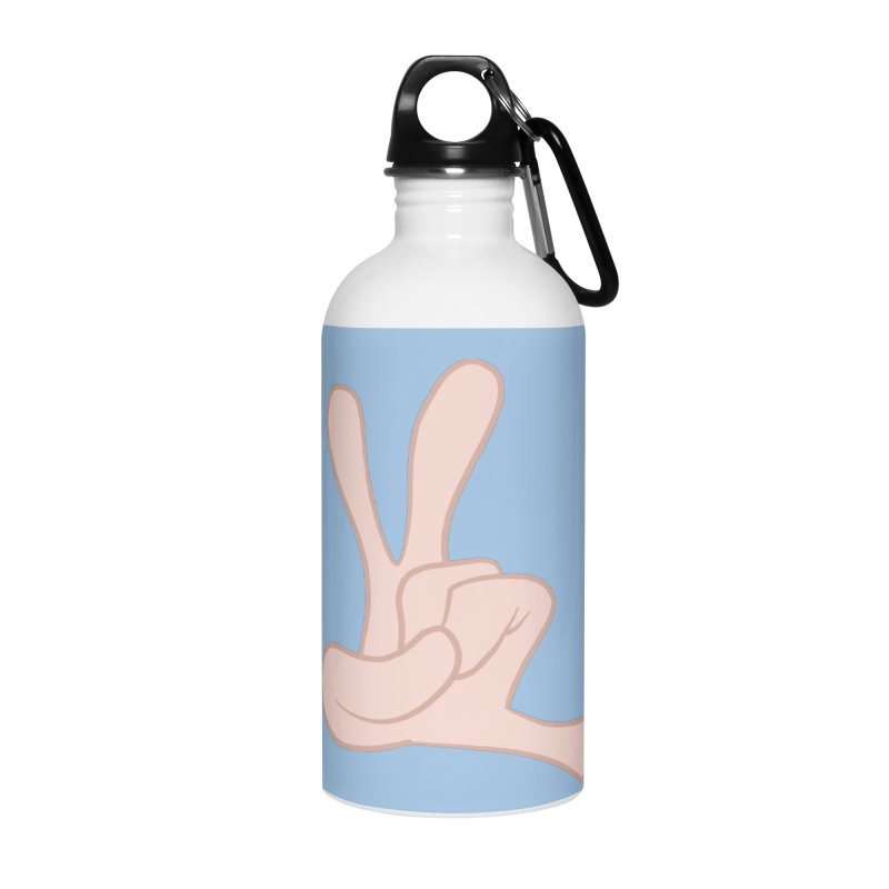 Funny Fingers - Peace Accessories Water Bottle by Coconut Justice's Artist Shop