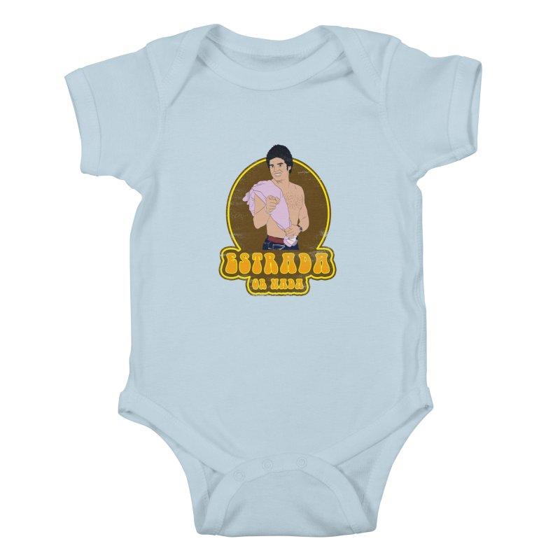 Estrada or Nada Kids Baby Bodysuit by Coconut Justice's Artist Shop