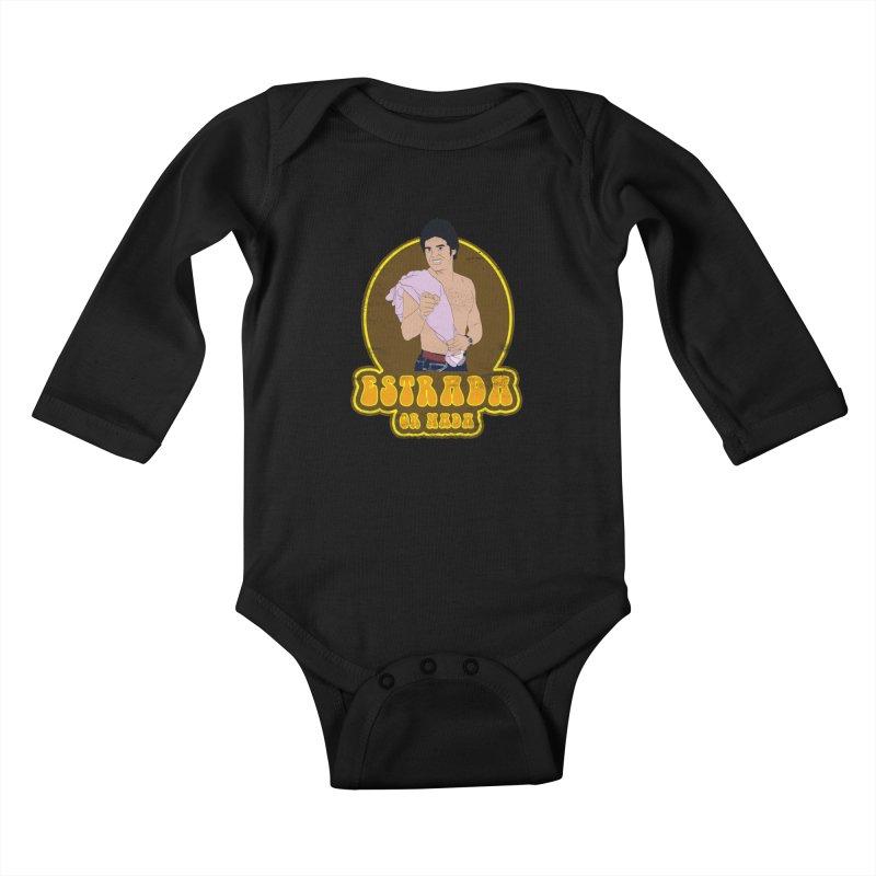 Estrada or Nada Kids Baby Longsleeve Bodysuit by Coconut Justice's Artist Shop