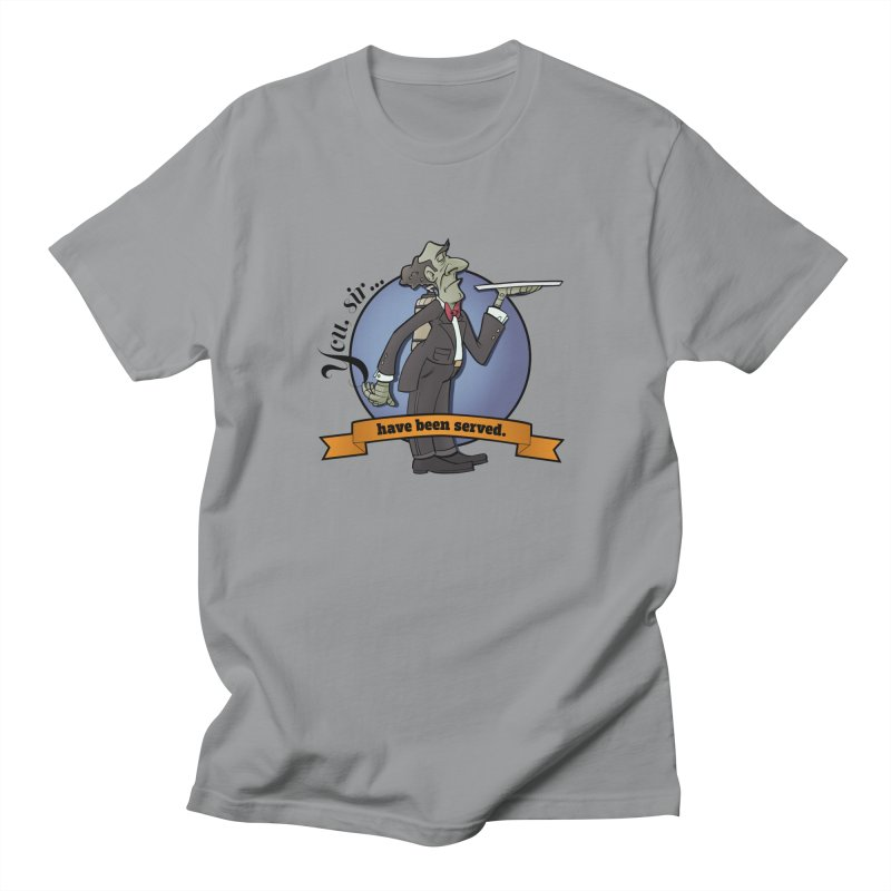 You, sir...have been served. Men's Regular T-Shirt by Coconut Justice's Artist Shop