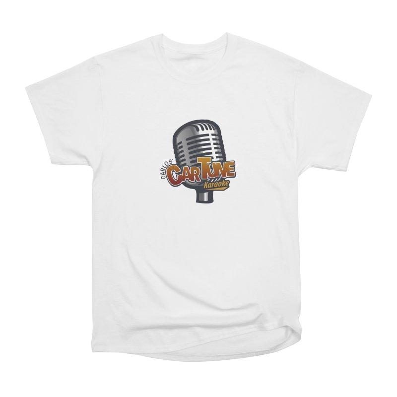 Carlos' CarTune Karaoke Logo Women's Heavyweight Unisex T-Shirt by Coconut Justice's Artist Shop