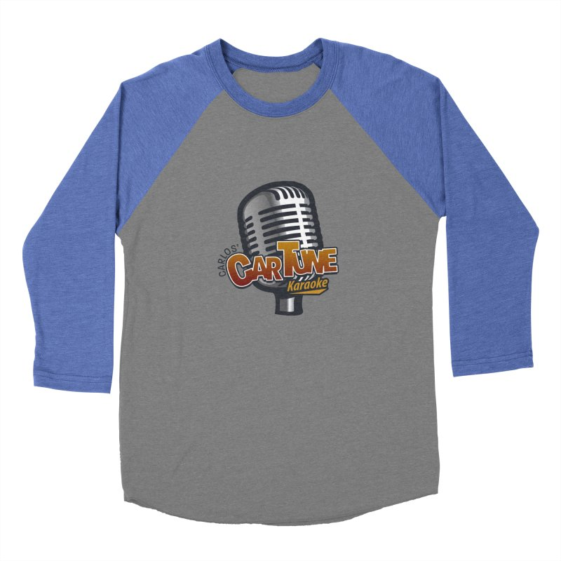 Carlos' CarTune Karaoke Logo Men's Baseball Triblend T-Shirt by Coconut Justice's Artist Shop